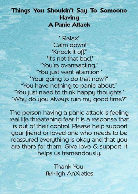 Things you shouldn't say....